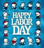 Счастливая карточка Дня Трудаа бесплатная иллюстрация