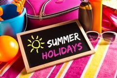 Счастливая карточка летних отпусков Стоковая Фотография RF