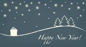 Счастливая карточка Нового Года иллюстрация вектора