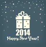 Счастливая карточка Нового Года иллюстрация штока