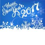 Счастливая карточка Нового Года 2017 Стоковые Фото
