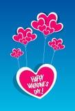 Счастливая карточка дня валентинок Стоковая Фотография