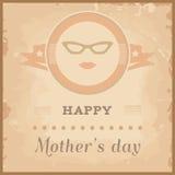 Счастливая карточка дня матерей иллюстрация штока