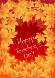 Счастливая карточка дня учителей Стоковое Фото
