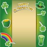Счастливая карточка дня ` s St. Patrick Стоковое Изображение
