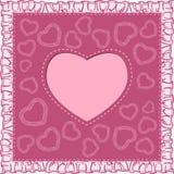 Счастливая карточка дня Valentines с сердцем иллюстрация штока