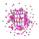 Счастливая карточка партии Нового Года 2015 Стоковое Изображение