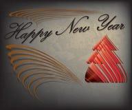Счастливая карточка подарка Новый Год Стоковое Изображение