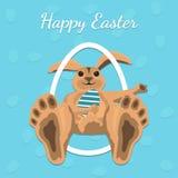 Счастливая карточка подарка пасхи, иллюстрация вектора Стоковое Фото