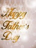 Счастливая карточка предпосылки дня отцов красочная иллюстрация вектора