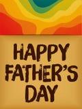 Счастливая карточка предпосылки дня отцов красочная бесплатная иллюстрация