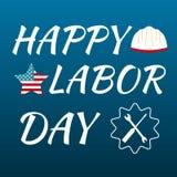 Счастливая карточка Соединенные Штаты Америки Дня Трудаа Стоковая Фотография