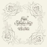Счастливая карточка valntines праздника. иллюстрация вектора