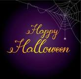 Счастливая каллиграфия поздравительной открытки хеллоуина Стоковые Фотографии RF