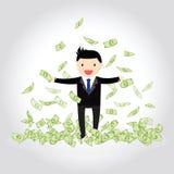 Счастливая концепция денег Стоковые Фото