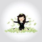 Счастливая концепция денег Стоковое Изображение RF