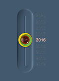 Счастливая концепция 2016 Нового Года i Стоковые Изображения RF