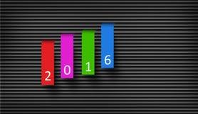 Счастливая концепция 2016 Нового Года II Стоковые Изображения