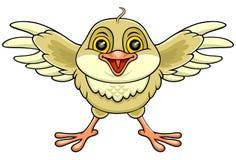 Счастливая коричневая птица Стоковые Фотографии RF