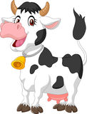 Счастливая корова шаржа Стоковые Изображения RF