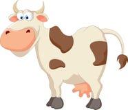 Счастливая корова шаржа Стоковые Изображения