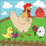 Счастливая курица матери дня матерей Стоковые Изображения RF