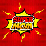 Счастливая мама супергероя дня матери иллюстрация штока