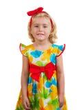Счастливая маленькая девочка весеннего времени стоковые изображения rf