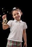 Счастливая маленькая девочка с фонариком Рамазана стоковое изображение