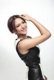 Счастливая модная женщина Стоковая Фотография