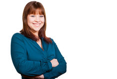 Счастливая молодая бизнес-леди Стоковые Изображения