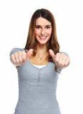 Счастливая молодая женщина. стоковые фотографии rf