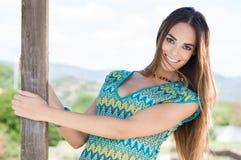 Счастливая молодая женщина стоковое фото rf