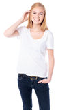 Счастливая молодая студентка Стоковое Изображение RF