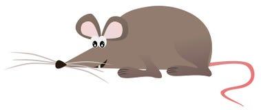 Счастливая мышь на белой предпосылке - иллюстрации стоковое изображение