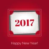 Счастливая Нового Года поздравительная открытка 2017 Стоковая Фотография