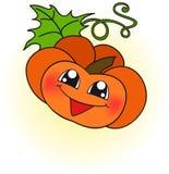 Счастливая оранжевая тыква Стоковое Фото