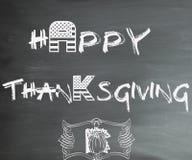 Счастливая доска благодарения стоковое фото