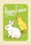 Счастливая открытка пасхи Стоковая Фотография