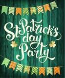 Счастливая партия дня ` s St. Patrick Бесплатная Иллюстрация