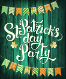Счастливая партия дня ` s St. Patrick Стоковое Фото