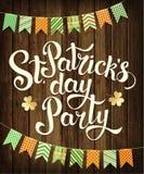 Счастливая партия дня ` s St. Patrick Иллюстрация вектора