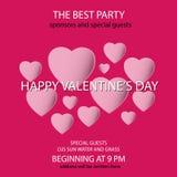 Счастливая партия дня Valentine's Стоковая Фотография