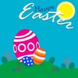Счастливая пасха!! - поле звероловства пасхальных яя Стоковое Изображение RF