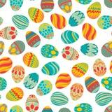 Счастливая пасха! Счастливый праздник eggs картина, безшовная предпосылка для вашего дизайна поздравительной открытки Милые украш Стоковое фото RF