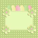 Счастливая пасха цветет зеленый цвет весны 3D eeg Стоковое фото RF