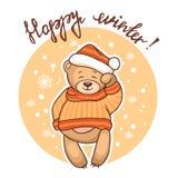 Счастливая поздравительная открытка зимы Стоковые Изображения