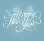 Счастливая поздравительная открытка литерности Нового Года Стоковые Фотографии RF