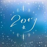 Счастливая поздравительная открытка литерности Нового Года запачканная предпосылка Иллюстрация штока