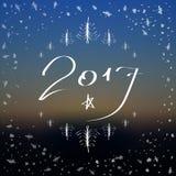 Счастливая поздравительная открытка литерности Нового Года запачканная предпосылка Иллюстрация вектора